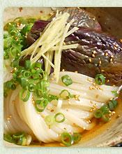 香川の郷土料理なすそうめん風ぶっかけ