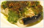 讃岐うどんと白子と色々野菜のエスカルゴバター焼き