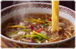 白菜と豚こま炒めのラーメン