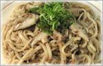 ひき肉と椎茸の焼きうどん