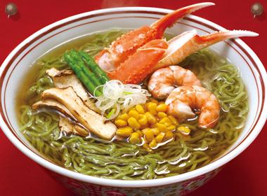 讃岐うどんの亀城庵公認レシピ 海鮮わかめラーメン