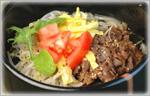 讃岐うどんの鍋レシピ 韓国風冷やし汁麺