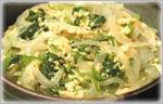 讃岐うどんの鍋レシピ 菜の花の卵とじうどん