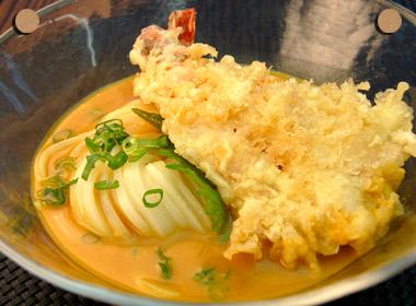 天ぷら冷やしカレーぶっかけうどん