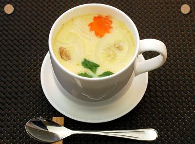 余った麺つゆで、茶碗蒸し