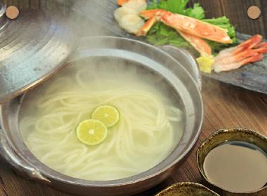 讃岐うどんの亀城庵公認レシピ 土鍋で釜上げうどん
