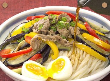 讃岐うどんの亀城庵公認レシピ 茄子とお肉のぶっかけ
