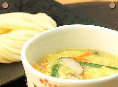 中華風卵スープつけめん