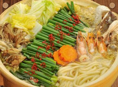讃岐うどんの亀城庵公認レシピ 海鮮ネギうどん鍋