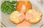 ゆで卵とハムとうどんのコロッケ
