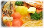讃岐うどんの鍋レシピ チリトマト海鮮鍋うどん