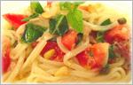讃岐うどんのひんやりレシピ 冷製イタリアンカラーパスタ風うどん