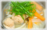 讃岐うどんのあったかレシピ 手作り鮭つくねのしっぽくうどん
