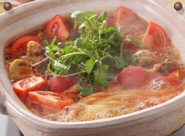 牛肉トマト鍋うどん