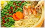 讃岐うどんの鍋レシピ 海鮮ネギうどん鍋
