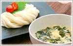 たっぷりわかめの中華スープつけうどん