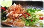 讃岐うどんの野菜たっぷりレシピ 讃岐細切うどん冷パスタもどき