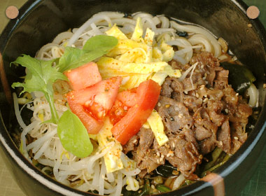 讃岐うどんの亀城庵公認レシピ 韓国風冷やし汁麺