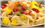 讃岐うどんの野菜たっぷりレシピ 冷風漬物ざくざくうどん