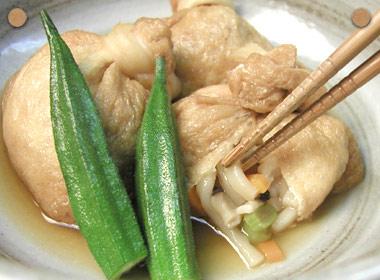 讃岐うどんの亀城庵公認レシピ うどん巾着の甘辛煮