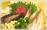 讃岐うどんの野菜たっぷりレシピ 梅じそかけうどん